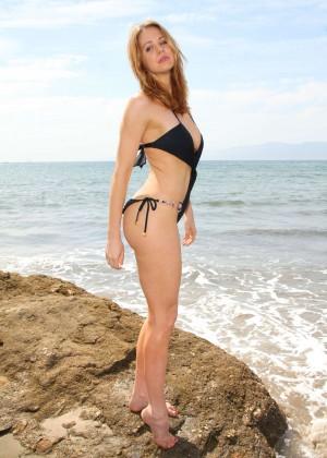 Maitland Ward in a Black Swimsuit -05
