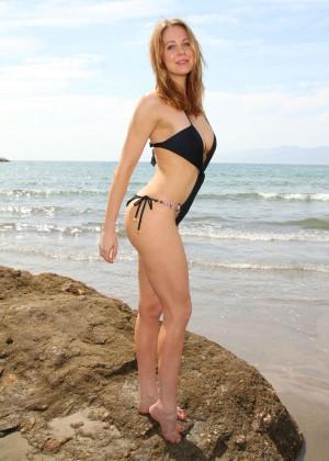 Maitland Ward in a Black Swimsuit -12