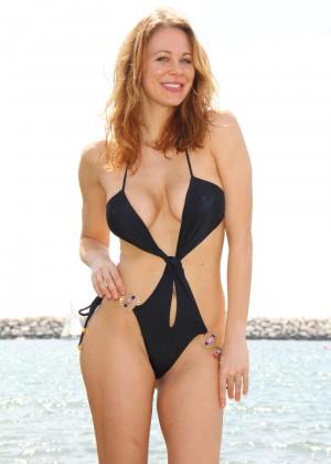 Maitland Ward in a Black Swimsuit -15