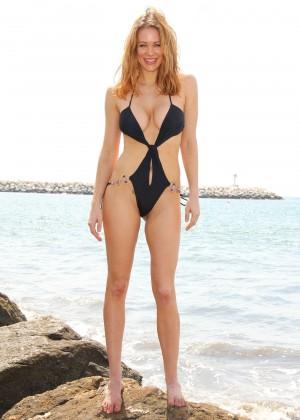 Maitland Ward in a Black Swimsuit -22