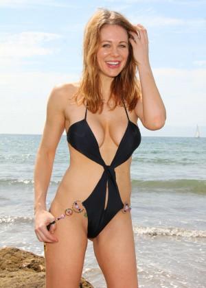 Maitland Ward in a Black Swimsuit -31