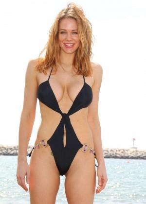 Maitland Ward in a Black Swimsuit -36