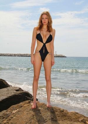 Maitland Ward in a Black Swimsuit -38