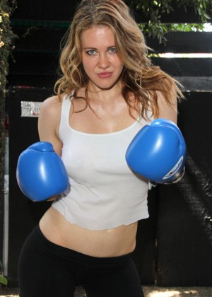 Maitland Ward - Workout Photoshoot in West Hollywood