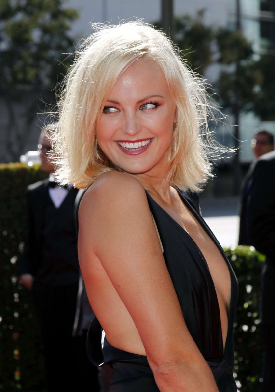Malin Akerman showing cleavage at Creative Arts Emmy Awards 2012