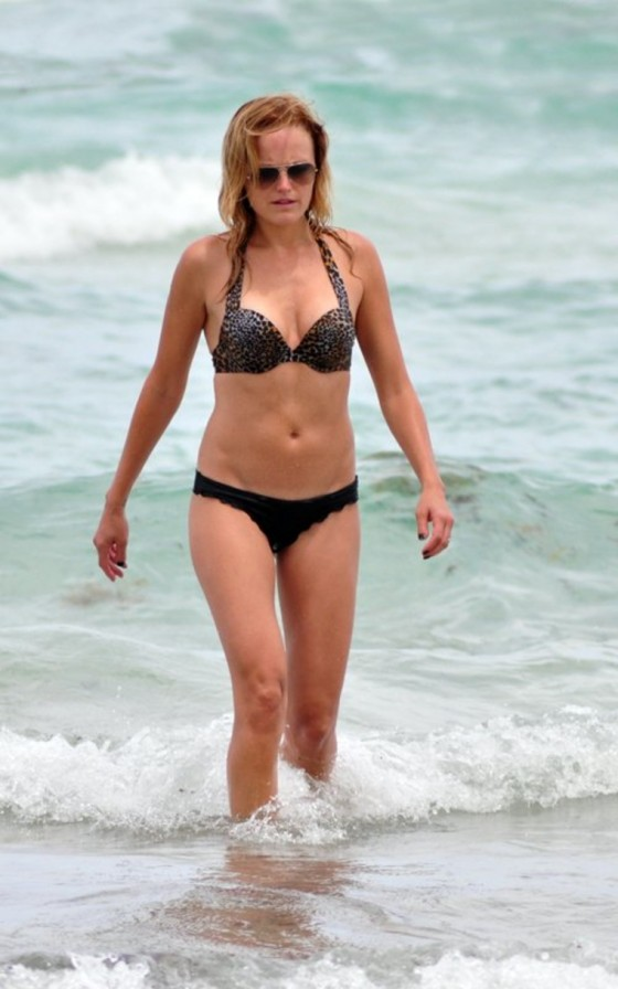 Malin Akerman - In Bikini at Beach in Miami-02