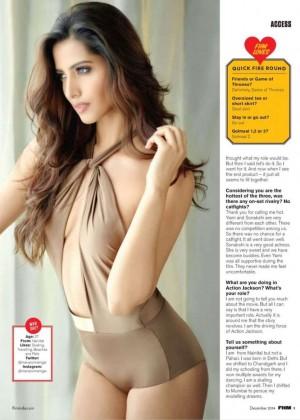 Manasvi Mamgai - FHM India Magazine (December 2014)