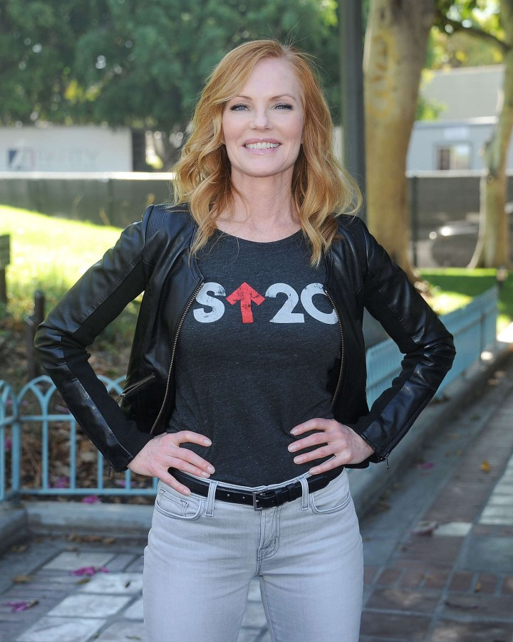 "Marg Helgenberger - ""Stand Up To Cancer"" Press Conference in LA"
