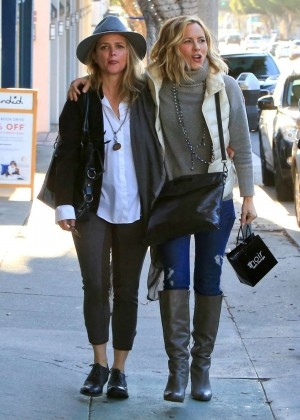 Maria Bello and girlfriend Clare Munn - Shopping in Santa Monica