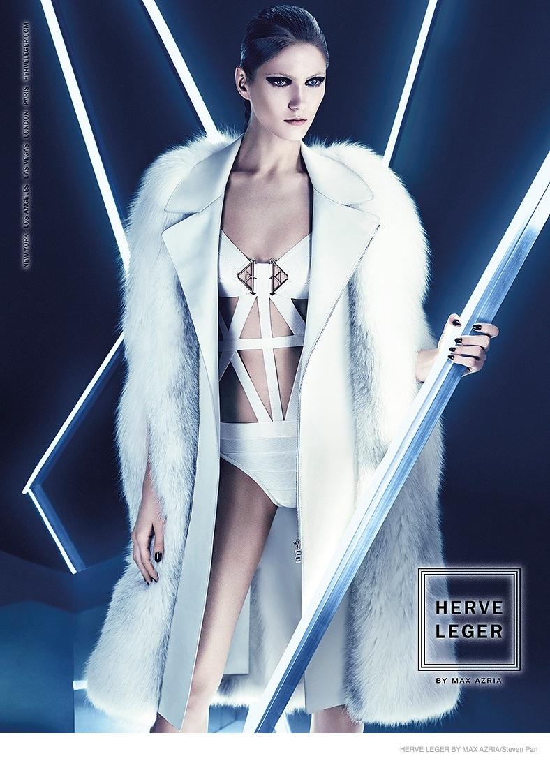 Maria Flavia - Herve Leger by Max Azria Futuristic Fall 2014 Ad Campaign