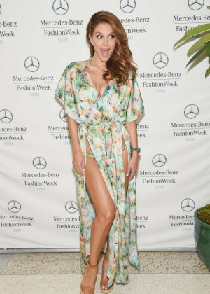 Maria Menounos at 2014 Mercedes-Benz Fashion Week Swim 2015 in Miami Beach
