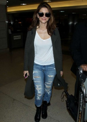 Maria Menounos in Jeans at LAX Airport in LA
