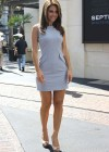 Maria Menounos - Hot in short dress At the Set of Extra-02