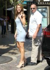 Maria Menounos - Hot in short dress At the Set of Extra-04
