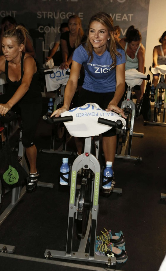 Maria Menounos - Charity Spin Ride