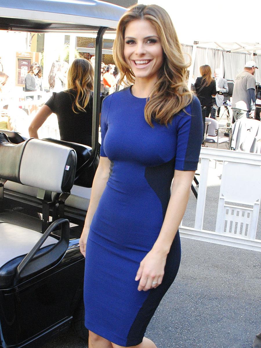 Maria Menounos In Blue Dress 06 Gotceleb