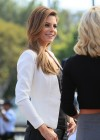 Maria Menounos in leather interviewing Katherine Jenkins for Extra -05