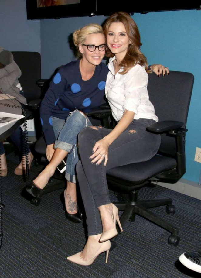 Maria Menounos - Jenny McCarthy SiriusXM Show in LA