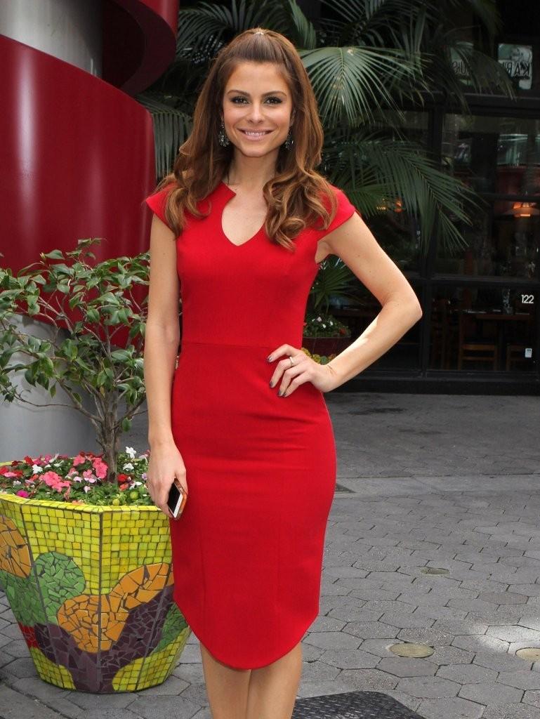 Maria Menounos 2014 : Maria Menounos Hot in a Tight Red Dress -01