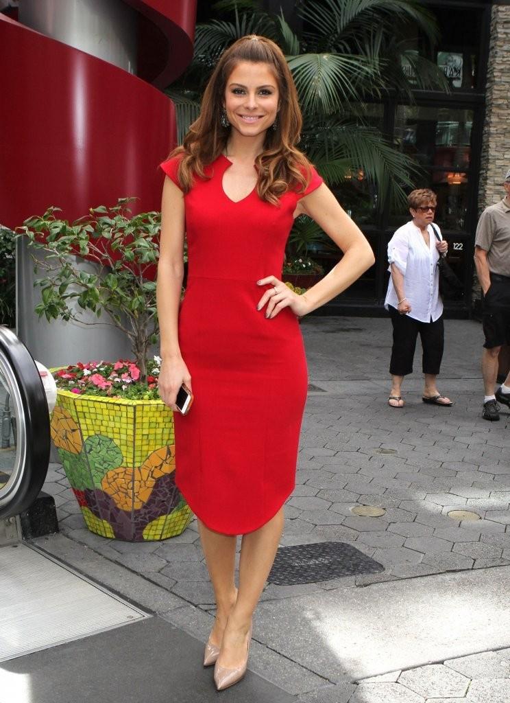Maria Menounos 2014 : Maria Menounos Hot in a Tight Red Dress -03