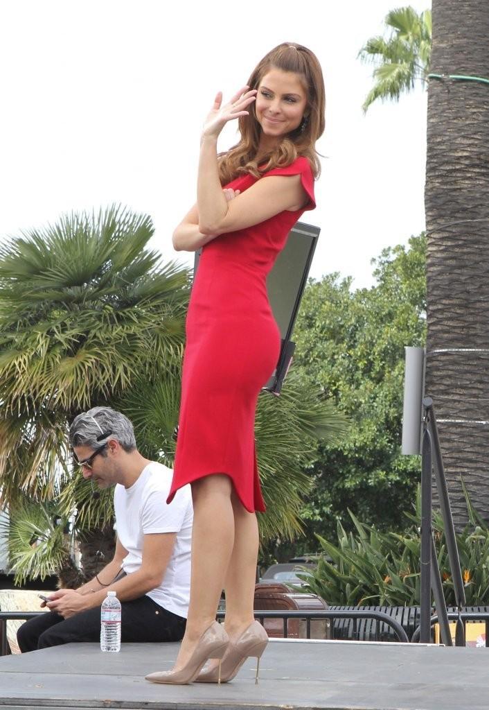 Maria Menounos 2014 : Maria Menounos Hot in a Tight Red Dress -09