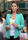 Maria Menounos in tight pants On the set of Extra at The Grove in L.A. - 01/09/13