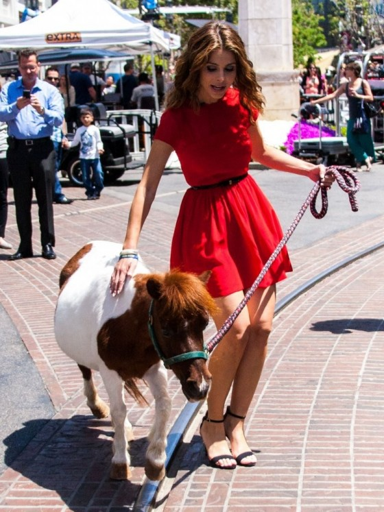 Maria Menounos in a red dress-03