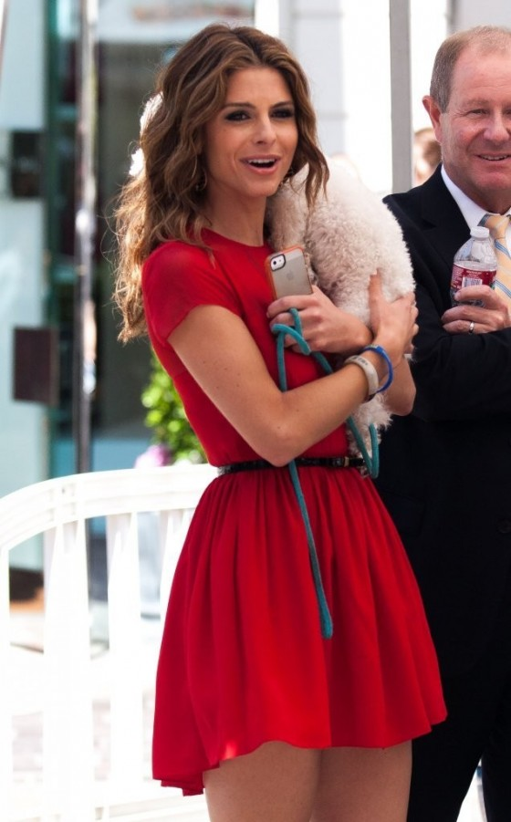 Maria Menounos in a red dress-10