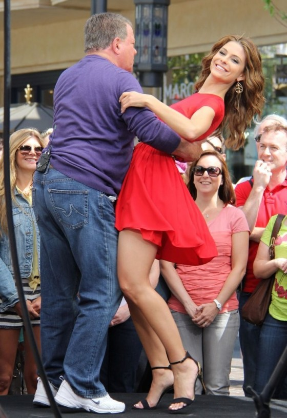 Maria Menounos in a red dress-11