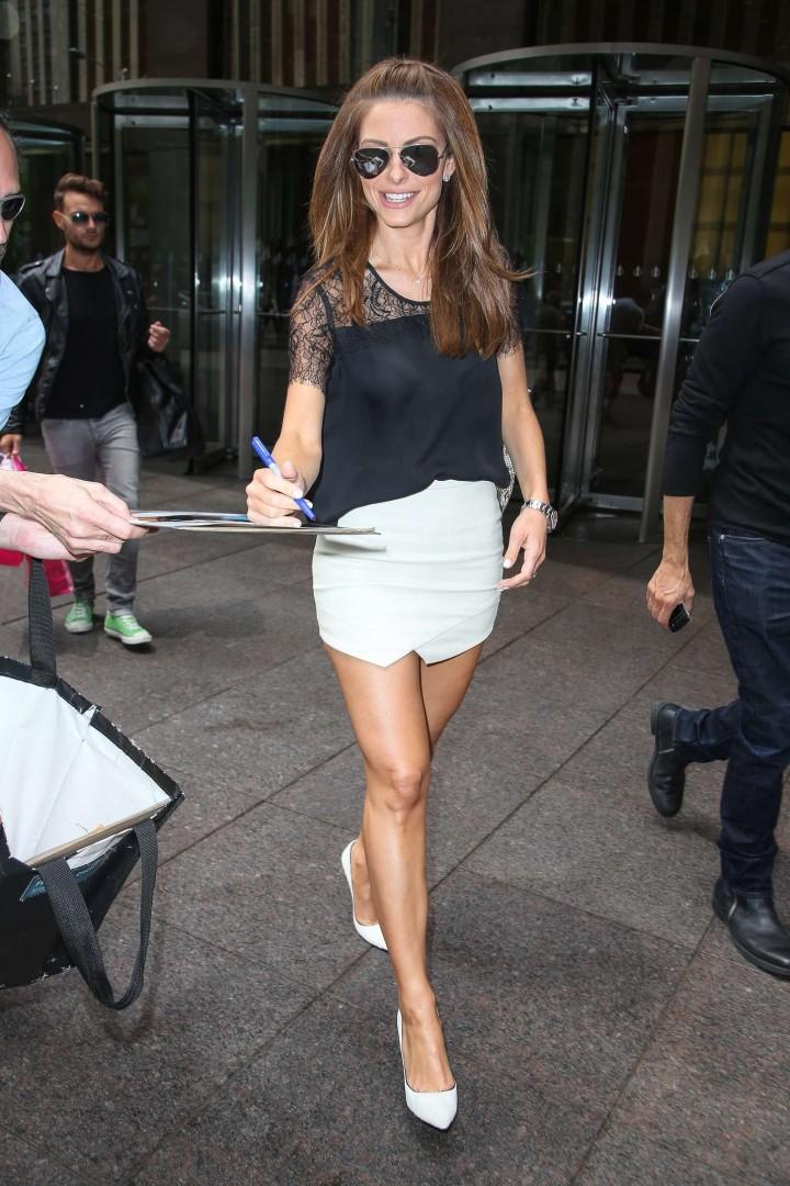 Maria Menounos in Mini Skirt -04