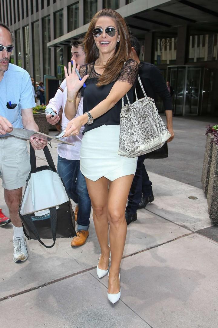 Maria Menounos in Mini Skirt -06