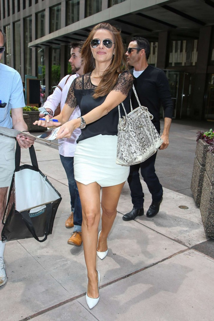 Maria Menounos in Mini Skirt -09