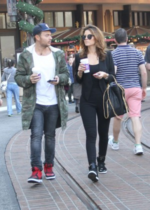 Maria Menounos in Black Tights at The Grove in West Hollywood