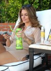Maria Menounos - Looking Hot in a seethru to bikini at home in Encino-05