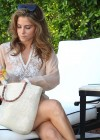 Maria Menounos - Looking Hot in a seethru to bikini at home in Encino-08