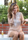 Maria Menounos - Looking Hot in a seethru to bikini at home in Encino-09