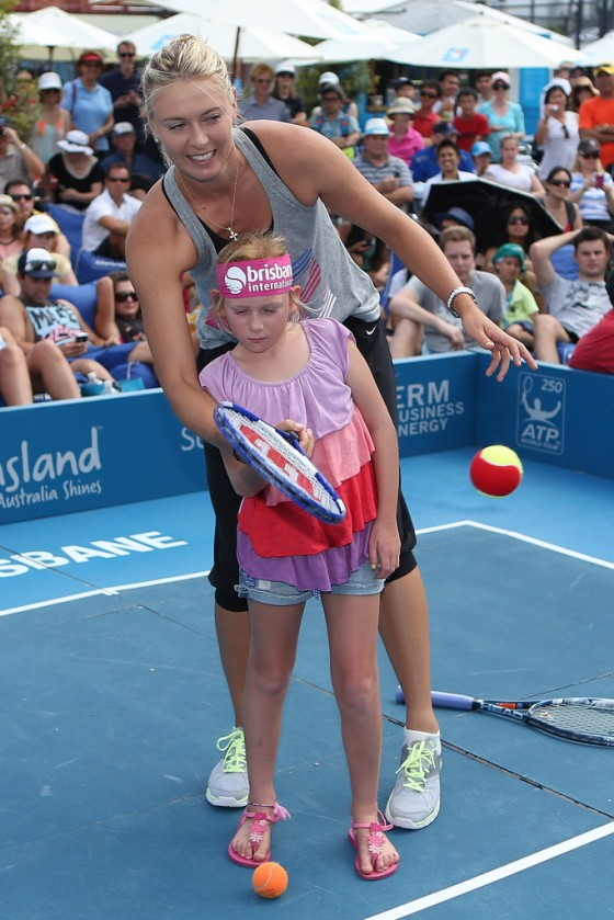 Maria Sharapova at Brisbane International 2012