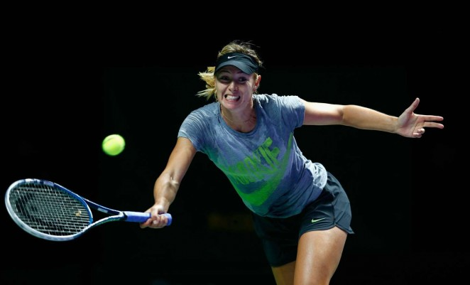 Maria Sharapova - Practices WTA Finals 2014 in Singapore