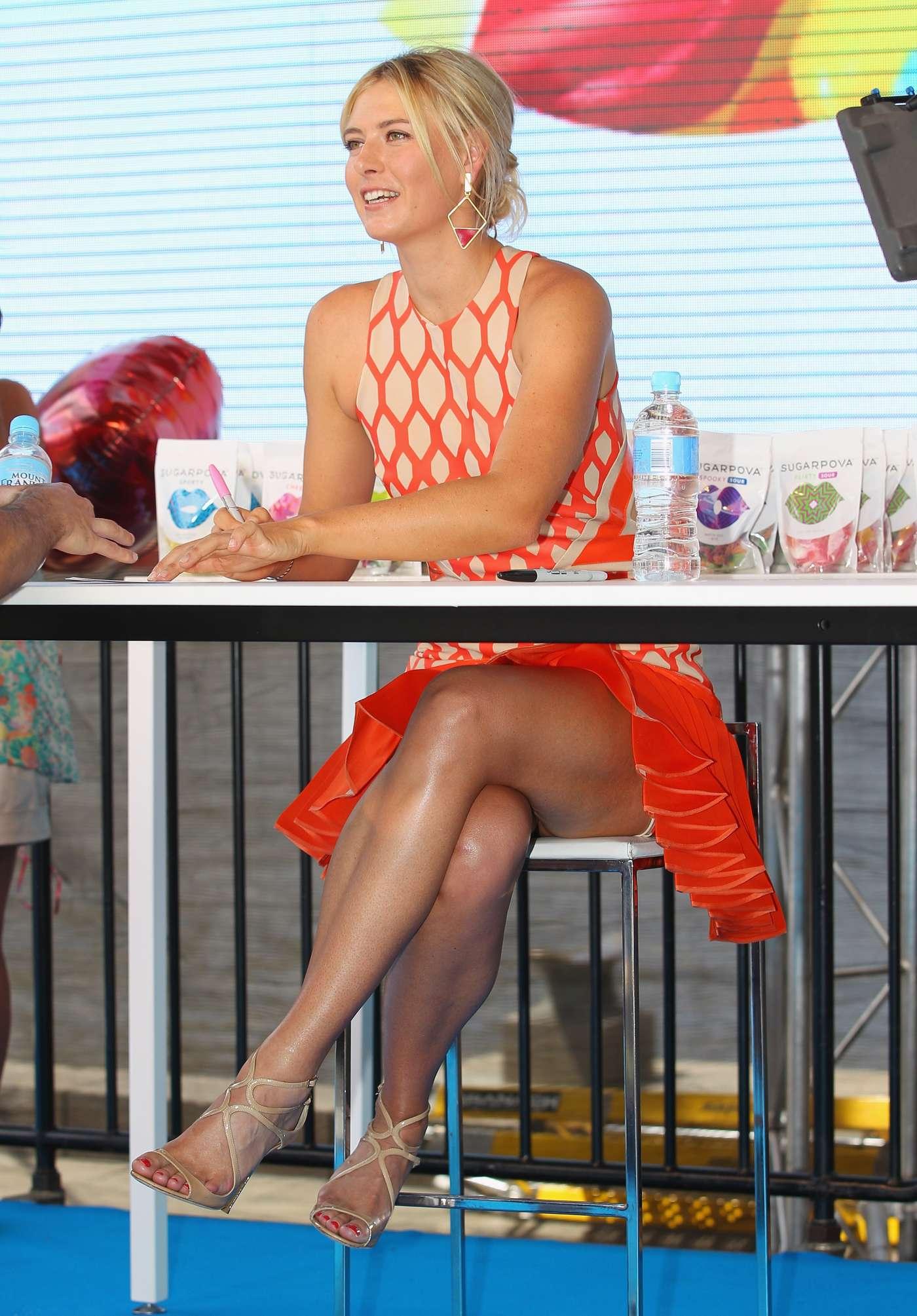 Maria Sharapova at Sugarpova launch -01 | GotCeleb