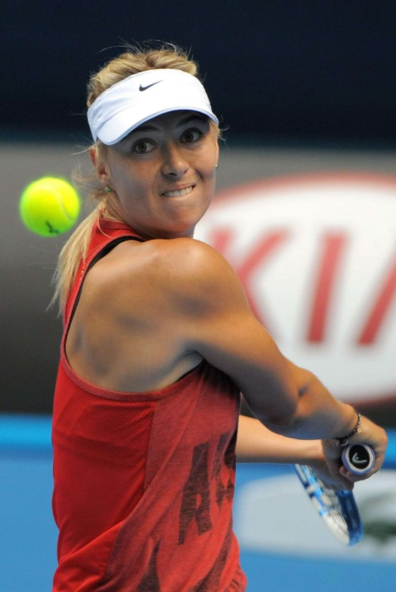 Maria Sharapova - Practice at Australian Open 2013