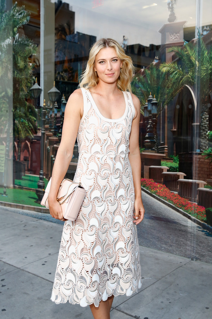 Maria Sharapova - 20th Anniversary Event Fashion Targets Breast Cancer in NYC