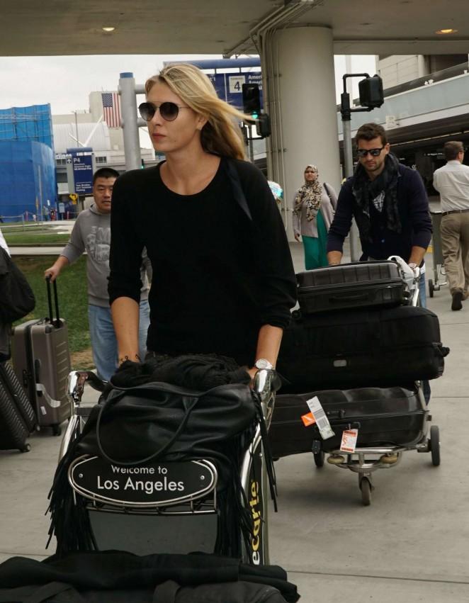 Maria Sharapova - LAX airport in Los Angeles