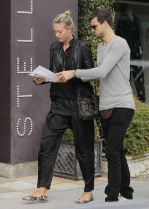 Maria Sharapova with boyfriend Out in Beverly Hills