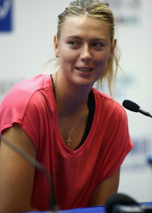Maria Sharapova - Press Conference Day 4 of 2014 Dongfeng Motor Wuhan Open China