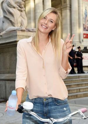 Maria Sharapova - Serves Up Evian Bottle Service in NYC