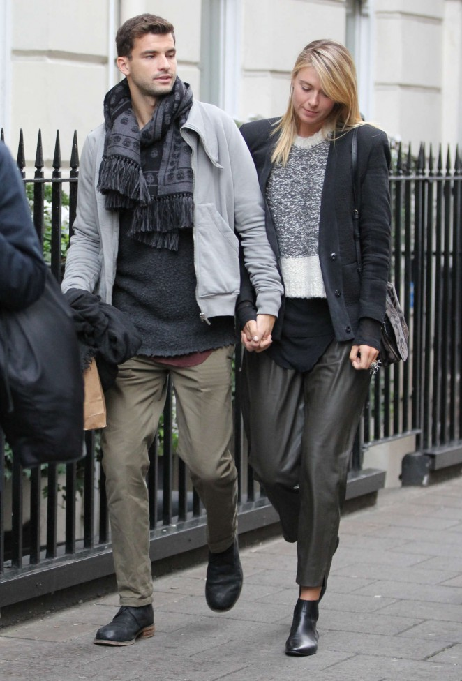 Maria Sharapova with boyfriend Shopping at Dover Street ... Nicole Scherzinger Engaged