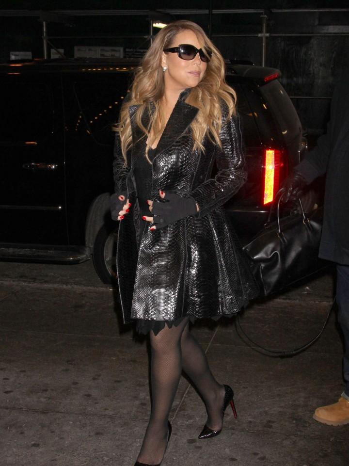 Mariah Carey at MTV Studios in New York -02