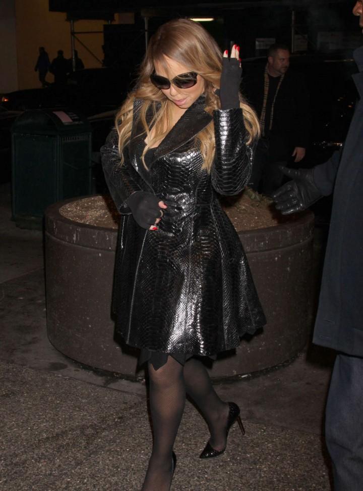 Mariah Carey at MTV Studios in New York -09