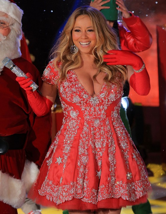 "Mariah Carey performing her big Christmas hit ""All I Want For Christmas Is You!"""