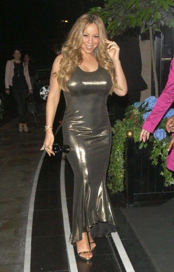 Mariah Carey -in a tight dress at the Dorchester Hotel in London-03 ...